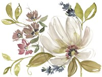 Aubergine Composition I Framed Print