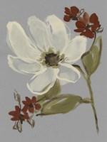 Subdued Floral I Framed Print