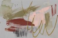 Scribbles & Paint I Framed Print