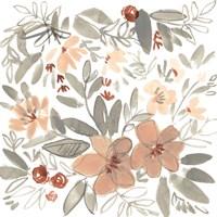 Peach & Rust Blooms II Framed Print