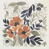 Sienna & Paynes Flowers II Framed Print
