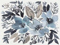 Blue & Paynes Blooms I Framed Print