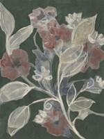 Blooms on Hunter Green II Framed Print