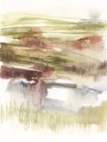 Abstract Flower Horizon I Framed Print