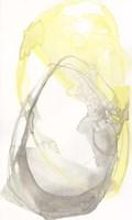 Lemon & Grey Tandem I Framed Print