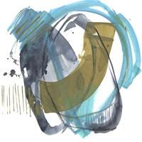 Olive & Blue Gesture II Framed Print