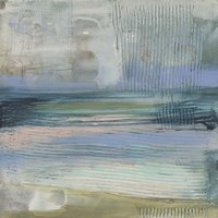 Textured Coastline I Framed Print
