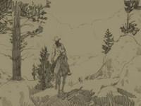 High in the Hills I Framed Print