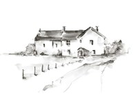 Rural Farmhouse Study I Framed Print