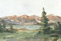 Rusty Mountains II Framed Print