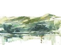 Across The Lake I Framed Print