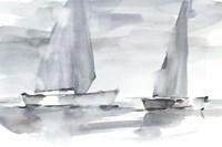 Misty Sails II Framed Print