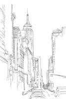 Pencil Cityscape Study III Framed Print