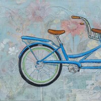 Bicycle Collage I Framed Print