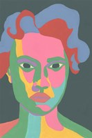 Colorblock Face II Framed Print