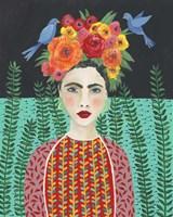 Frida Headdress II Framed Print