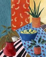 Colorful Tablescape I Framed Print