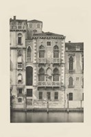 Vintage Views of Venice III Framed Print