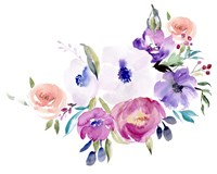 Watercolor Anemone I Framed Print