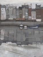 Fishing Village I Framed Print