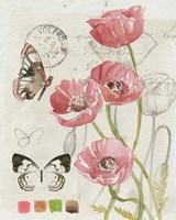 Field Notes Florals I Framed Print