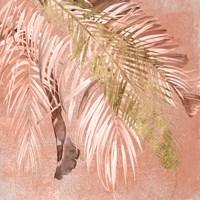 Golden Palms II Framed Print