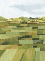 Woven Pasture II Framed Print