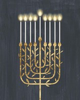 Golden Hanukkah I Fine Art Print