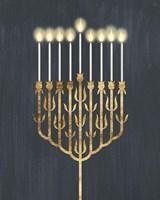 Golden Hanukkah II Fine Art Print