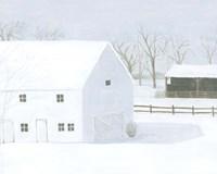 Whiteout Farm I Framed Print