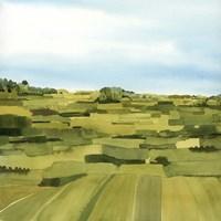 Green Gold Valley I Framed Print