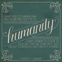 Madam Walker Quote I Framed Print