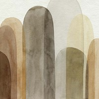 Desert Watercolor Arches I Framed Print