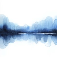 Ultramarine Mirror II Framed Print