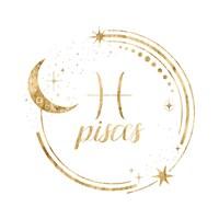 Gilded Astrology XII Framed Print