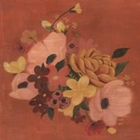 Burnt Orange Bouquet I Framed Print