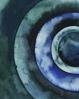 Cobalt Vortex I Framed Print