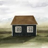 Nordic Cottage II Framed Print