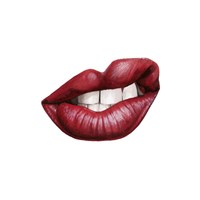 Emotion Lips III Framed Print