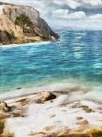 Seaside Views I Framed Print