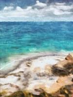 Seaside Views II Framed Print