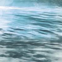 Shimmering Waters II Framed Print