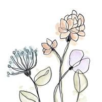 Spindle Blossoms VII Framed Print