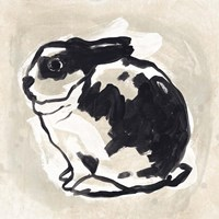 Antique Rabbit IV Framed Print