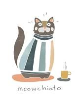Coffee Cats I Framed Print