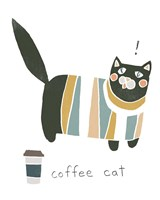 Coffee Cats III Framed Print