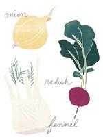 Simple Veggies II Framed Print