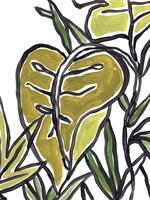 Naive Foliage IV Framed Print