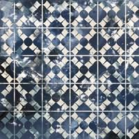 Tile-Dye V Framed Print