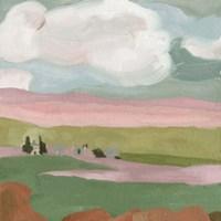 Violet Fields I Framed Print